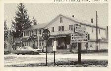 Cowan Pa Wetzel's Trading Post Lewisburg Postcard 20398