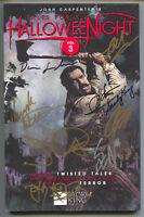 Tales For A Halloween Night Signed 9x John Carpenter Tim Bradstreet Steve Niles