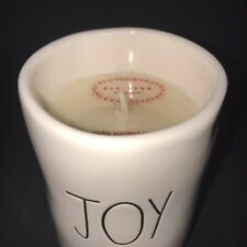 Rae Dunn JOY Christmas Candle Sugar Cookie Scent Holiday Ceramic Wax Cover NEW