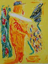 ETIENNE ELIAS (1936-2007) / TYPISCHE FIGURATIE / KLEURZEEFDRUK / 100x78cm / SIG