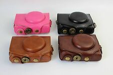 Leather Camera case bag Cover For Canon PowerShot SX720 HS SX 720