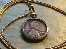 "Antique 1926 Denver mint Wheat Penny Pendant on a 24"" 18KGF Gold Filled Chain."