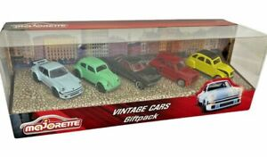 Majorette Vintage Cars Set of 5 Cars Boxed Toy Car Giftpack Scale 1/64 NEW