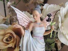 Fairy Site BLACK ROSE fairy figurine by MUNRO makers of FAERIE GLEN fairies BNIB