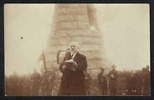 Cpa Carte Photo Guerre Sommet Grand Ballon Mr Poincaré Monument Diables Bleus
