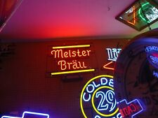 Antique Meisterbrau Neon Beer Light Bar Sign Big Man Cave Sale Check It Out