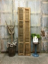 New ListingTall Rustic French Shutters, Wood Shutters, Window Louvered Shutter Doors L3,