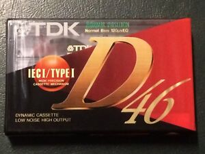 AUDIOCASSETTA TDK D 46 NUOVA SIGILLATA audio tape TDK D 46 new sealed