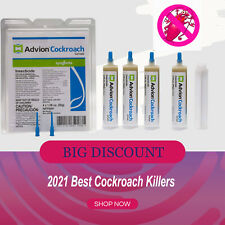 Syngenta Cockroach Gel Bait Roach killer 4 Tubes with Tips and Plunger