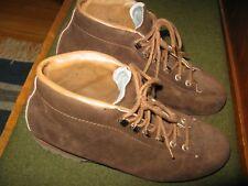Henke of Switzerland Brown Suede Mountaineering Hiking Ankle Boots Men's 8