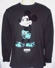 MENS NEFF DISNEY COLLECTION MICKEY MOUSE CHARCOAL LONG SLEEVE SHIRT SIZE XL