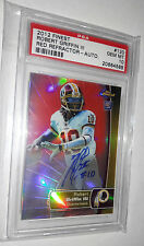 Robert Griffin '12 Topps Finest Rookie Red Refractors 12/15 On Card Auto PSA 10