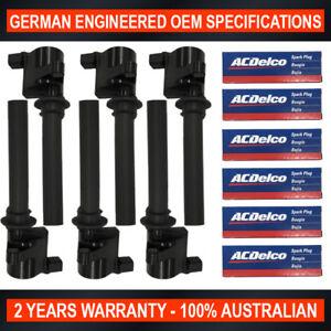 6x Ignition Coil & ACDelco Spark Plugs for Ford Escape for Mazda MPV Tribute V6