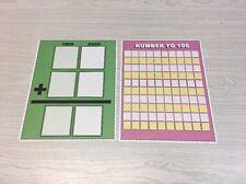 Set of 2 - Laminated Math Work Mats #22 - Dry Erase