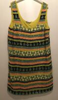 YELLOW SEQUIN EMBELLISHED DRESS 14 MISS SELFRIDGE TOWIE CELEB SUMMER SPARKLY