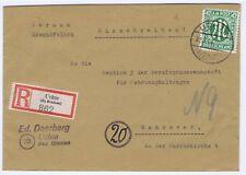 BIZONE/Le-Post, Mi. 31az (N), EF, R-Uchte BZ Bremen, 22.2.46, AK Hanovre