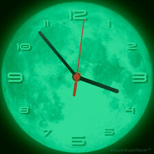 FULL MOON wall CLOCK - Glow-in-the-Dark - boys girls childrens bedroom gift