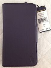 Ralph Lauren Polo~Samsung Galaxy 5S Hardshell Case~Blue Leather~Card Slots~NWT