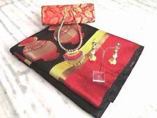 Matka Designer Indian Saree Cotten Silk Sari Wedding Look,Partywear Saree Blouse
