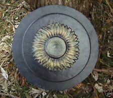 Plastic sunflower stepping stone mold plaster concrete