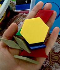 Large Lot Of Geometric Pattern Shape Blocks Multi Colors, Math Manipulatives