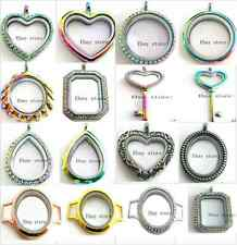 new style floating rainbow locket large living memory locket fit floating charms