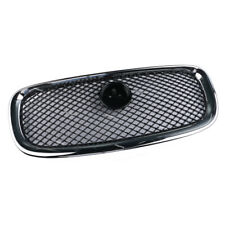 Front Center Grill Radiator Grille Black + Chrome For 2012-2015 Jaguar XF XFR