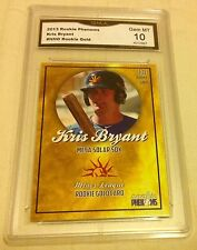 $90.00 Kris Bryant Rookie Gem Mint 10 Gold 2013 Chicago Cubs #1 Draft RC Rare 78