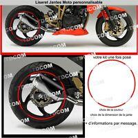 Moto Guzzi - Liseret de jantes - stickers adhésifs - Couleur aux choix