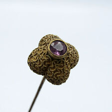 Antique Snake Skin Design with Purple Stone Hatpin Hat Pin
