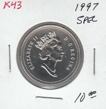 K43 CANADA 50c - 50 CENTS COIN 1997 SPECIMEN FROM 1997 SPECIMEN COIN SET $10.00