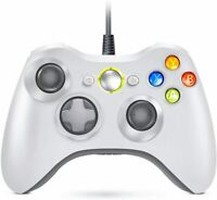 Xbox 360 Wired / Wireless Controller Gamepad & Battery Pack for Windows 7, 8, 10