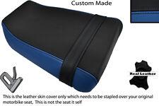 BLACK & ROYAL BLUE CUSTOM FITS SUZUKI GSXR GK73A 400 CC REAR LEATHER SEAT COVER