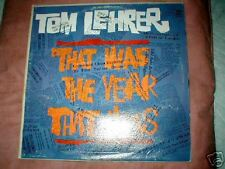 TOM LEHRER THAT WAS THE YEAR THAT WAS REPRISE LP R-6179