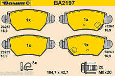 BARUM Bremsbeläge hinten OPEL ASTRA G ZAFIRA bis 08.2001 für Bosch System