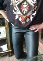 Zara 100% Real Leather Pants Leggings Sz S Au 8-10