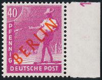 BERLIN, MiNr. 29 DZ, Druckerzeichen 1, postfrisch, Befund Schlegel, Mi. 1200,-