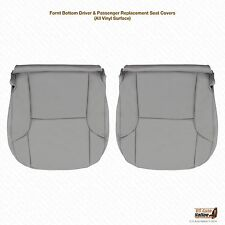2006 2007 2008 Toyota 4Runner Driver & Passenger Bottom  Leather Seat Cover Gray