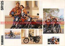 YAMAHA SR 125 - 1992 : Brochure - Dépliant - Moto                         #0533#