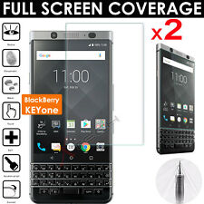 2x FULL SCREEN Face Curved TPU Screen Protectors for BlackBerry KEYone