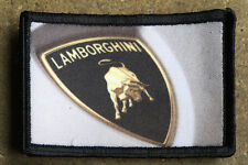 Lamborghini Morale Patch Tactical ARMY Hook Military USA Badge Flag Race Car