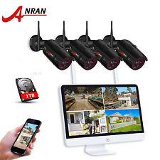 """Anran 4CH 1080P беспроводной видео системы безопасности IP CCTV камера 15"""" монитор NVR 1 ТБ"""