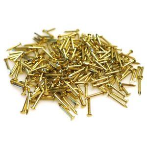 300x Brass Pins 10mm Nails Small Round Head Tack Repair Hobby Wall Hanging