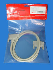 GENUINE ROLINE 1.8M DB25 M-M M/M RS232 RS-232 CABLE MALE TO MALE
