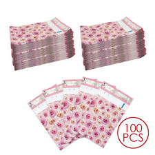 "100pcs 6""x9"" Pink Rose Poly Bag Mailers Custom Shipping Gift Envelopes"