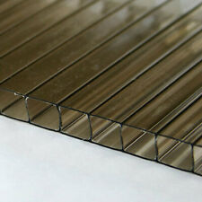 14 6mm Polycarbonate Twin Wall 24x12 Bronze Tinted Sheet Azm