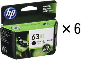 HP 63XL ink cartridge black increase F6U64AA Set of 6 FedEx Expedited Shipping