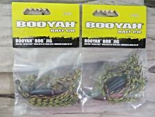 LOT OF 2 - BOOYAH 1/2 OUNCE JIG - GREEN WATERMELON RED COLOR