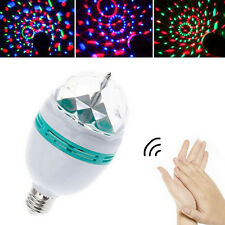 3W E27 85-260V RGB LED à activation vocale scène tournante lumière lampe ampoule