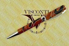Visconti Opera Vertigo Black & Orange Caramel Swirl Palladium Ballpoint Pen